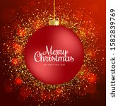merry christmas greeting card.... | Shutterstock . vector #1582839769