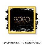 new year 2020 greeting card.... | Shutterstock . vector #1582840480