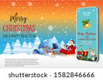 merry christmas and happy new... | Shutterstock .eps vector #1582846666