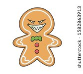 evil grin christmas holiday... | Shutterstock .eps vector #1582863913
