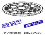 mosaic round pizza pictogram... | Shutterstock .eps vector #1582869190