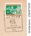Germany circa 1960 a stamp...