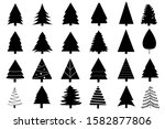 collection of black trees icon. ...   Shutterstock .eps vector #1582877806
