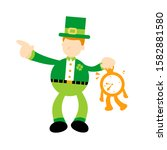 Leprechaun And Time Clock...