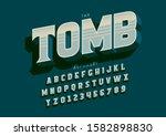 vector of stylized modern font... | Shutterstock .eps vector #1582898830