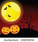 halloween vector card. vector... | Shutterstock .eps vector #158290934