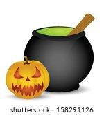 halloween pumpkin isolated on... | Shutterstock .eps vector #158291126
