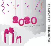 merry christmas and happy new... | Shutterstock .eps vector #1582929976