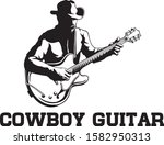 A Cowboy Playing The Guitar