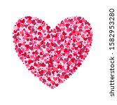 heart made from confetti hearts ...   Shutterstock .eps vector #1582953280
