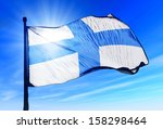 marseille  france  flag waving... | Shutterstock . vector #158298464