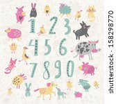 learn to count concept set. all ... | Shutterstock .eps vector #158298770