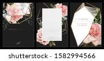 set cards.greeting cards with...   Shutterstock . vector #1582994566