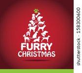 Furry Christmas Tree Greeting...