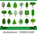 vector summer tree illustration ... | Shutterstock .eps vector #1583011630