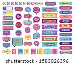 notepad stickers. to do sticky... | Shutterstock .eps vector #1583026396