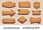 wooden cartoon boards. rustic...   Shutterstock .eps vector #1583026399