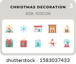 christmas decoration flat ...