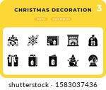 christmas decoration glyph...