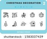 christmas decoration dashed...