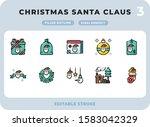 christmas santa claus filled...