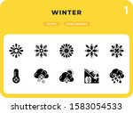 winter glyph icons pack for ui. ...