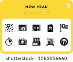 new year glyph icons pack for...