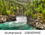 waterfall and river views of... | Shutterstock . vector #158305940
