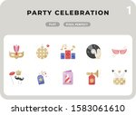 party celebration flat  icons...