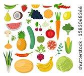 healthy food illustration.... | Shutterstock . vector #1583068366