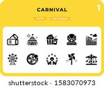 carnival glyph icons pack for...