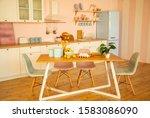 light and modern kitchen ...   Shutterstock . vector #1583086090