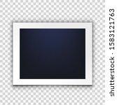 blank photo frame isolated on... | Shutterstock .eps vector #1583121763
