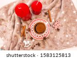 festive coffee by candlelight... | Shutterstock . vector #1583125813