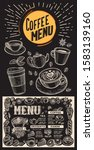 coffee menu template for... | Shutterstock .eps vector #1583139160