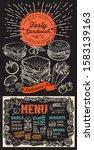 bagel and sandwich menu... | Shutterstock .eps vector #1583139163