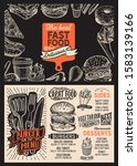 burger menu template for... | Shutterstock .eps vector #1583139166