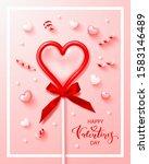 happy valentine's day. vertical ... | Shutterstock .eps vector #1583146489