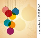 retro christmas background with ... | Shutterstock .eps vector #158315066