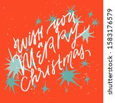 wish you a merry christmas. new ...   Shutterstock .eps vector #1583176579
