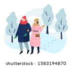 people spend time outdoor in...   Shutterstock .eps vector #1583194870