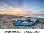 Turquoise Blue Fishing Boat At...