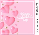 valentines day background with... | Shutterstock .eps vector #1583202679