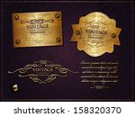 golden vintage collection | Shutterstock .eps vector #158320370