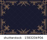 art deco frame with snowflakes. ... | Shutterstock .eps vector #1583206906