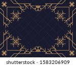 art deco frame with snowflakes. ... | Shutterstock .eps vector #1583206909