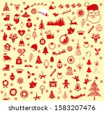 christmas icon  creative  red... | Shutterstock . vector #1583207476