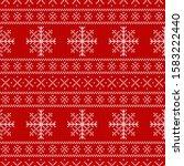 christmas knitted sweater ... | Shutterstock . vector #1583222440