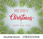 merry christmas and happy new... | Shutterstock . vector #1583222446