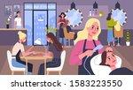 beauty center service concept.... | Shutterstock .eps vector #1583223550